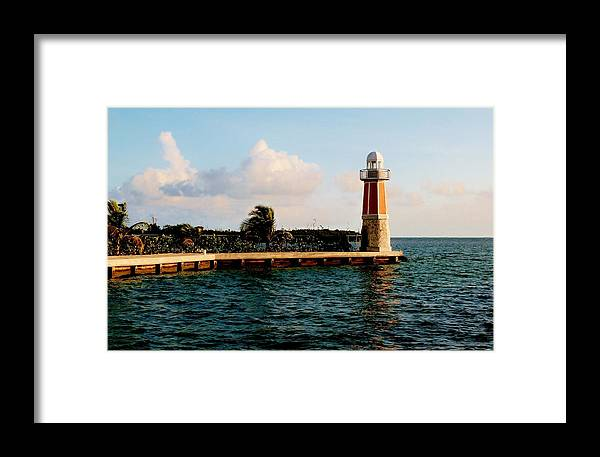 Color Framed Print featuring the photograph North Sound Beacon by Amar Sheow