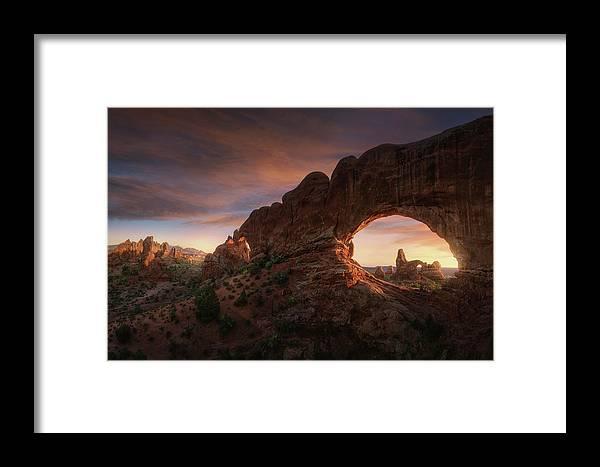 Utah Framed Print featuring the photograph North Windows by Juan Pablo De