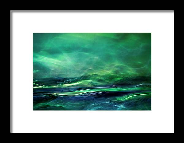 Abstract Framed Print featuring the photograph Northern Lights by Willy Marthinussen