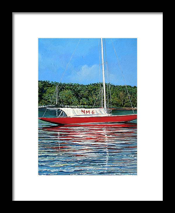 Sailing Framed Print featuring the painting Northern Michigan 6 by Gordon Szczubelek