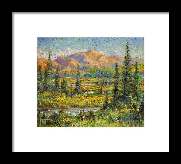 Northwest Framed Print featuring the painting Northwest In The Rockies by Henry Potwin