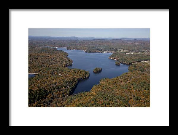 America Framed Print featuring the photograph Northwood Lake, Northwood by Dave Cleaveland