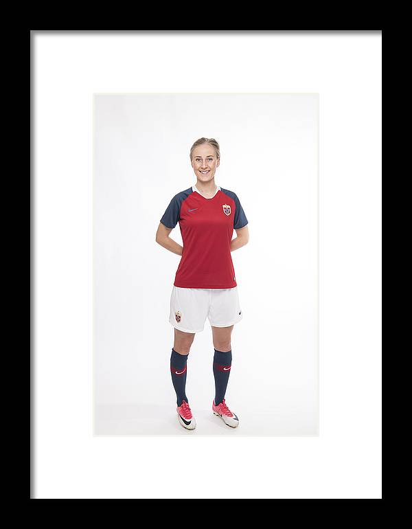 new product 884b6 cb66d Norway Women's National Team New Kit Launch Framed Print