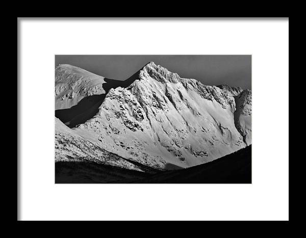 Norway Framed Print featuring the photograph Norwegian Arctic Mountains by David Broome