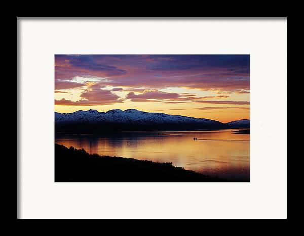 Norway Framed Print featuring the photograph Norwegian Fjordland Sunset by David Broome
