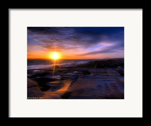 Sunset Framed Print featuring the painting Norwegian Sunset by Bruce Nutting