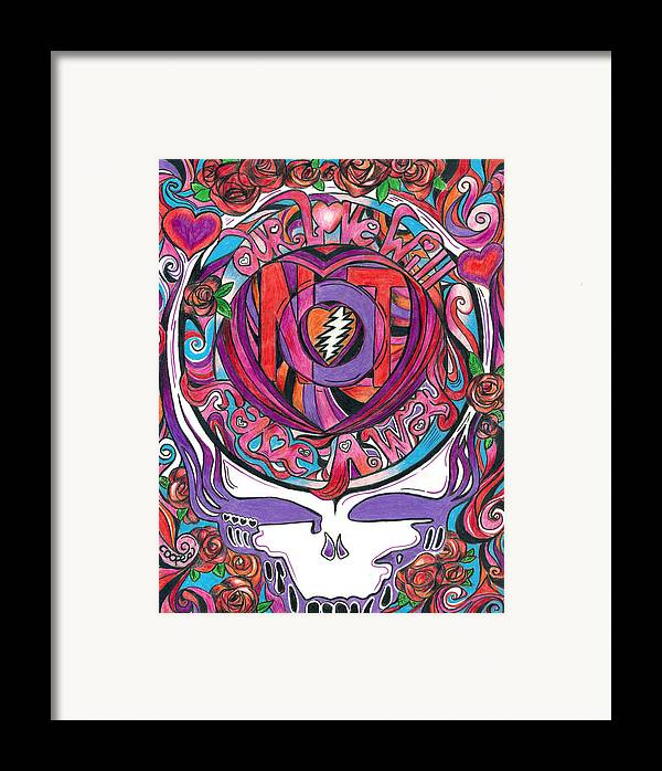 The Grateful Dead Framed Print featuring the drawing Not Fade Away by Kevin J Cooper Artwork
