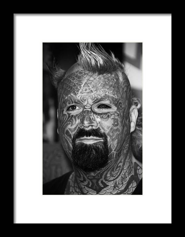 Jezcself Framed Print featuring the photograph Not Much Blank by Jez C Self
