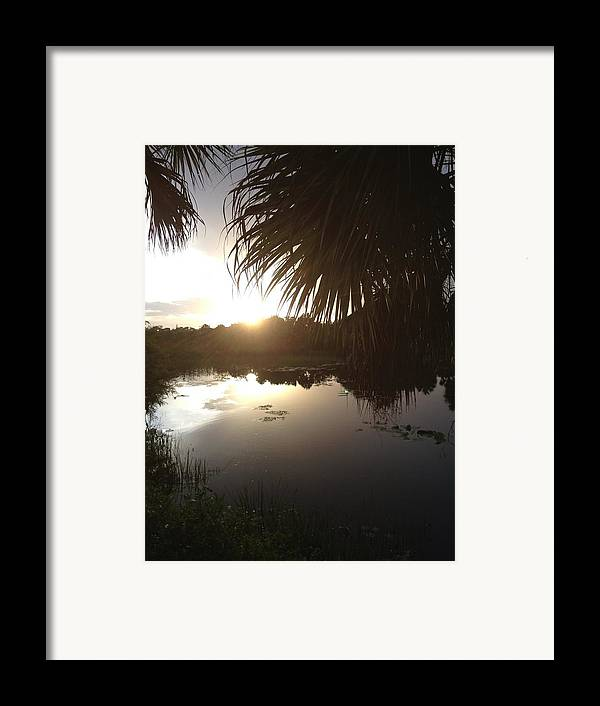 Not Quite Black And White Sunset Framed Print featuring the photograph Not Quite Black And White - Sunset by K Simmons Luna