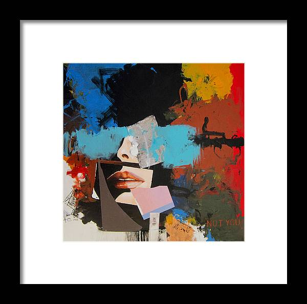 Abstract Framed Print featuring the painting Not You by Alfredo Coelho