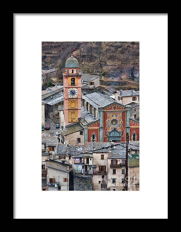 Architecture Framed Print featuring the photograph Notre Dame In Tende by Gabriela Insuratelu