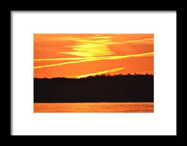 Abstract Framed Print featuring the photograph November 11 Sunrise 2014 by Lyle Crump
