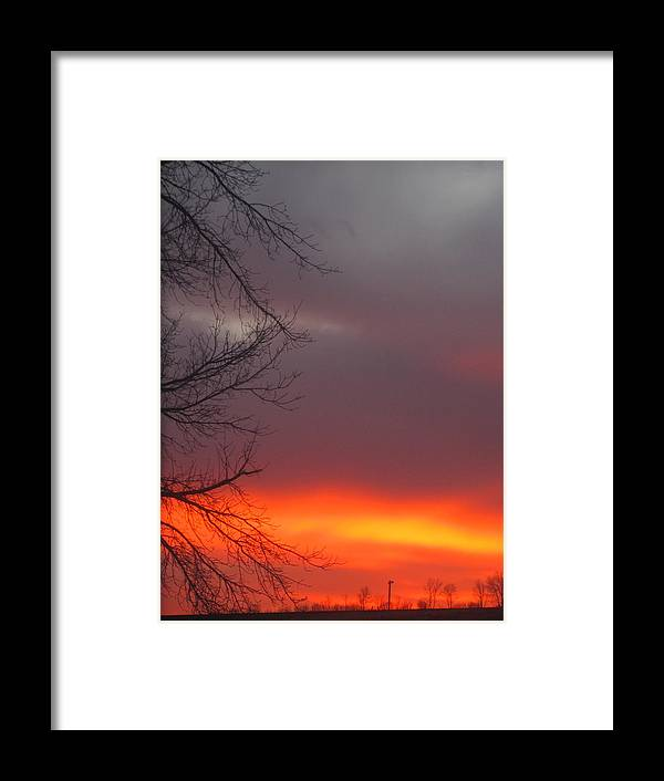 Sunset North Dakota Framed Print featuring the photograph November 18 by Kim Eastwood