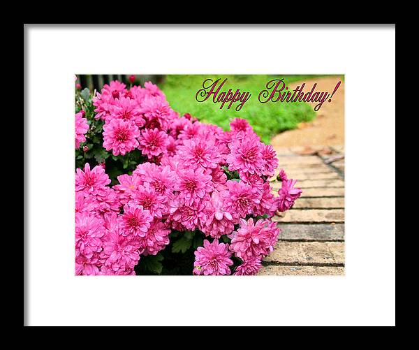 Happy Birthday Framed Print featuring the photograph November Birthday by Kristin Elmquist