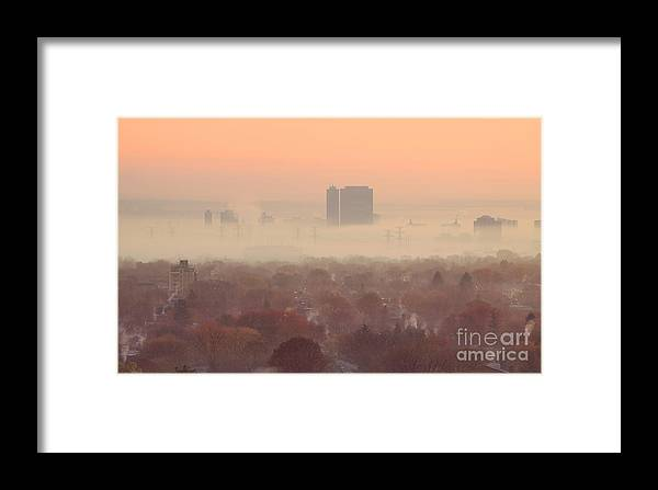 Toronto Framed Print featuring the photograph November Morning Fog by Charline Xia