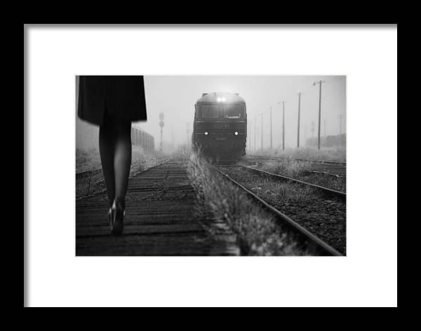 Train Framed Print featuring the photograph November Passengers by Nicoleta Gabor