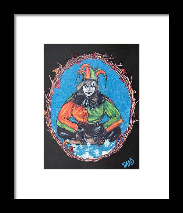Michael Framed Print featuring the drawing November Snow by Michael TMAD Finney