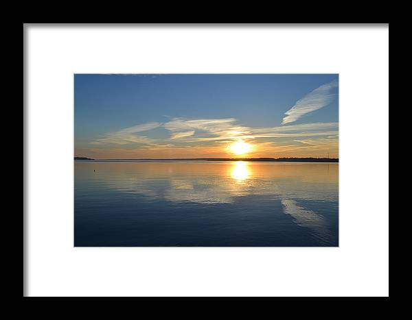Abstract Framed Print featuring the photograph November Sunrise by Lyle Crump