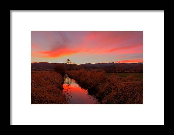 Sunset Framed Print featuring the photograph November Sunset by Christian Peay