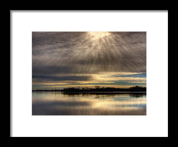Light Rays Framed Print featuring the photograph Now I Know Where Eagles Come From by Thomas Young