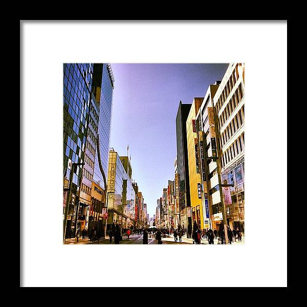Ginza Framed Print featuring the photograph 快晴の銀座 #tokyo #ginza by Tokyo Sanpopo