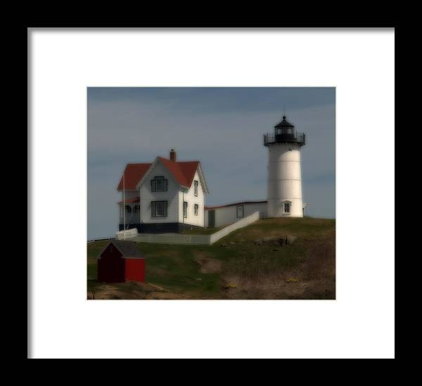 Lighthouses Framed Print featuring the photograph Nubble In Soft Focus by Caroline Stella