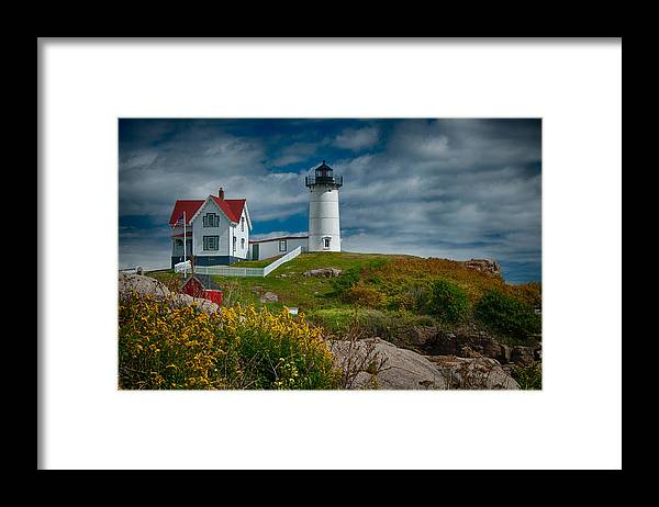 Nubble Framed Print featuring the photograph Nubble Lighthouse by Fred LeBlanc