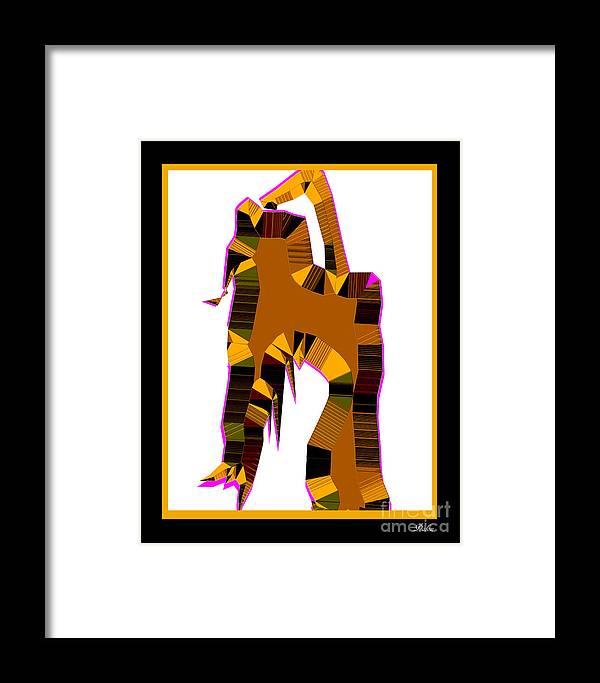 Pop Art Framed Print featuring the digital art Nude Female by Dalon Ryan