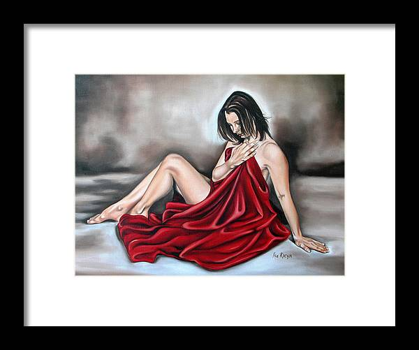 Nude Framed Print featuring the painting Nude Seventy Six Of Seven by Ilse Kleyn