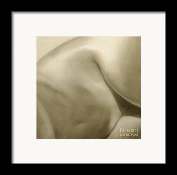 Nude Framed Print featuring the painting Nude Study IIi by John Silver