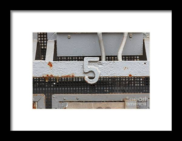 Decay Framed Print featuring the photograph Number Five by Jannis Werner