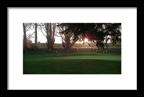Golf Course Green Golfing Framed Print featuring the photograph Number One Green by Laurie Stewart