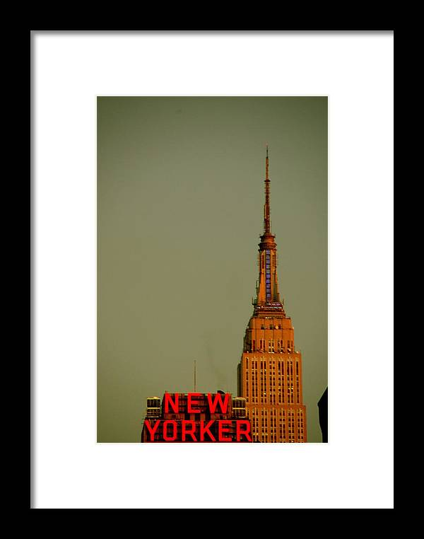 Framed Print featuring the photograph Ny Building by Nassib Benmahiddi