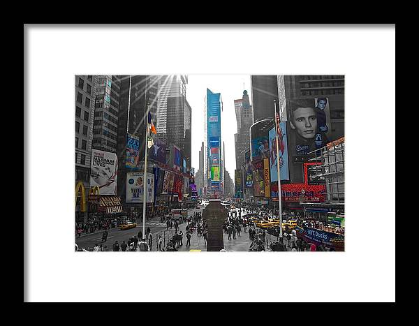 Timessquare Framed Print featuring the photograph Ny Times Square by Galexa Ch