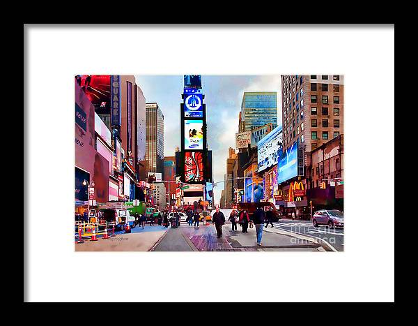 New York City Framed Print featuring the photograph Ny Times Square Impressions IIi by Regina Geoghan