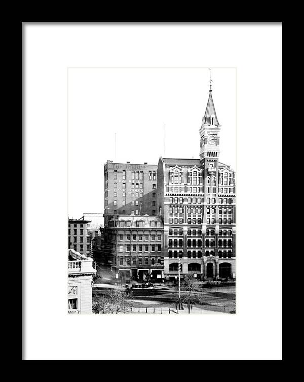 Nyc, New York Tribune Building, 1870s Framed Print by Science Source