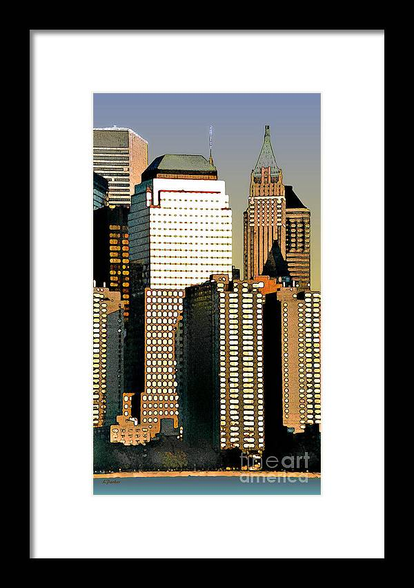 Impressionism Framed Print featuring the photograph Nyc - Tower Jungle by Linda Parker