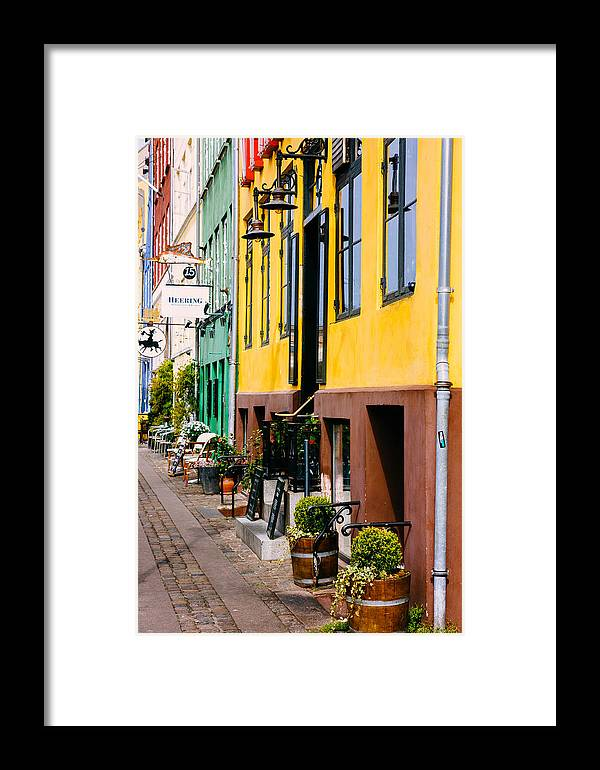 Denmark Framed Print featuring the photograph Nyhavn Buildings Closeup by Pati Photography