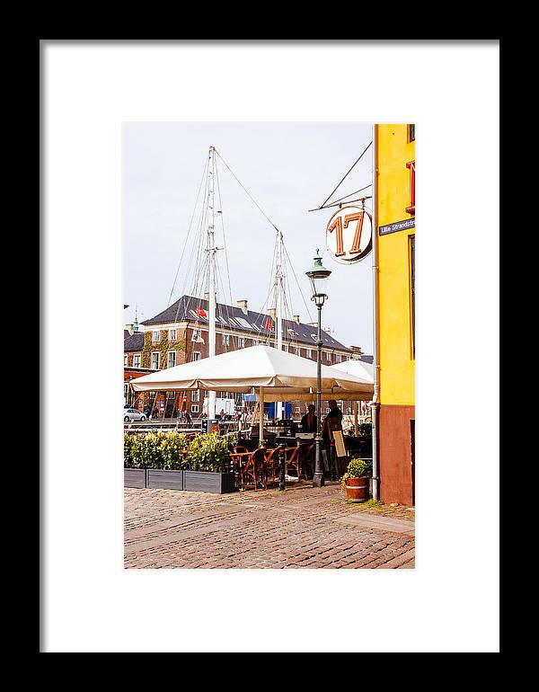 Denmark Framed Print featuring the photograph Nyhavn Restaurant by Pati Photography