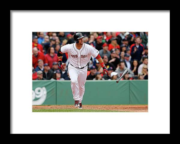 American League Baseball Framed Print featuring the photograph Oakland Athletics V Boston Red Sox by Jim Rogash