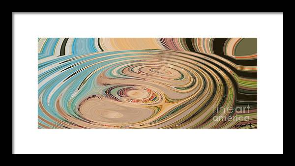 Abstract Framed Print featuring the painting Oasis by Loredana Messina