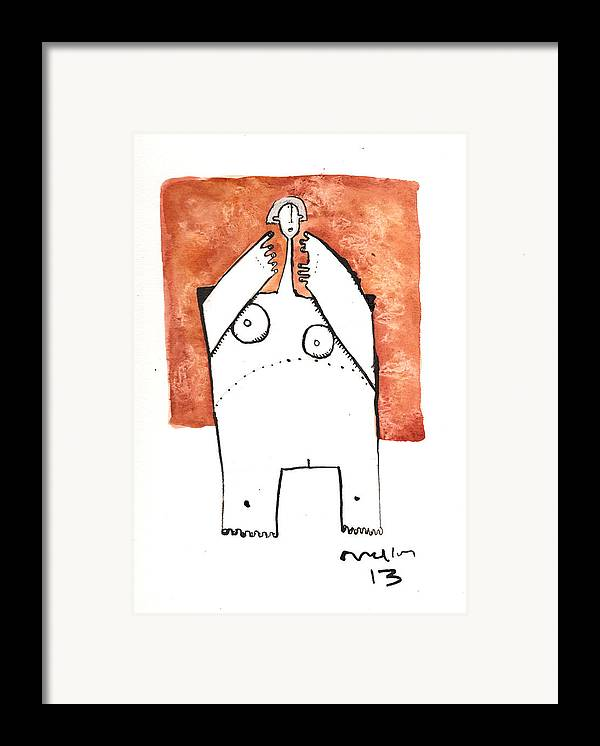 Drawing Framed Print featuring the drawing Oaths No.4 by Mark M Mellon