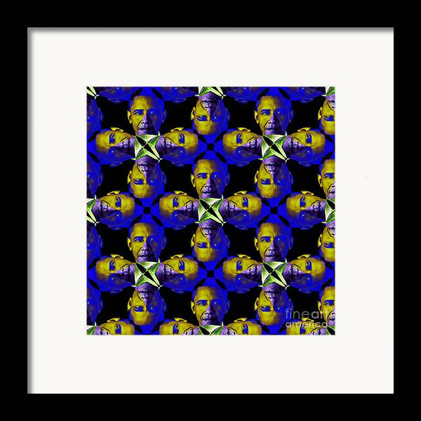 Politic Framed Print featuring the photograph Obama Abstract 20130202m118 by Wingsdomain Art and Photography