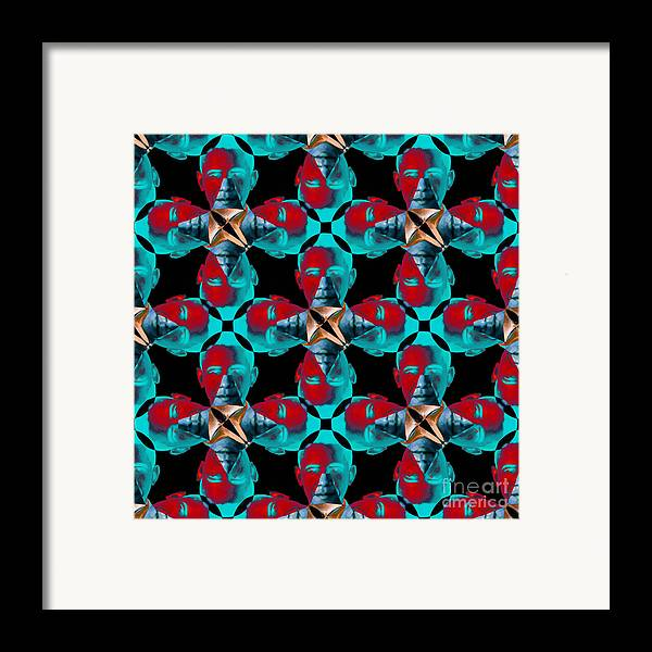 Politic Framed Print featuring the photograph Obama Abstract 20130202m180 by Wingsdomain Art and Photography