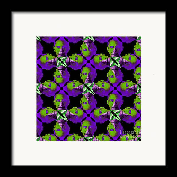 Politic Framed Print featuring the photograph Obama Abstract 20130202m88 by Wingsdomain Art and Photography