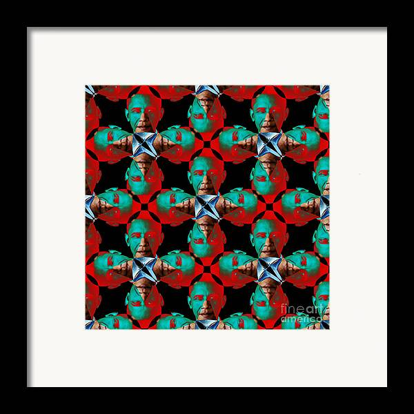 Politic Framed Print featuring the photograph Obama Abstract 20130202p0 by Wingsdomain Art and Photography