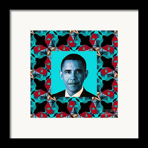 Politic Framed Print featuring the photograph Obama Abstract Window 20130202m180 by Wingsdomain Art and Photography