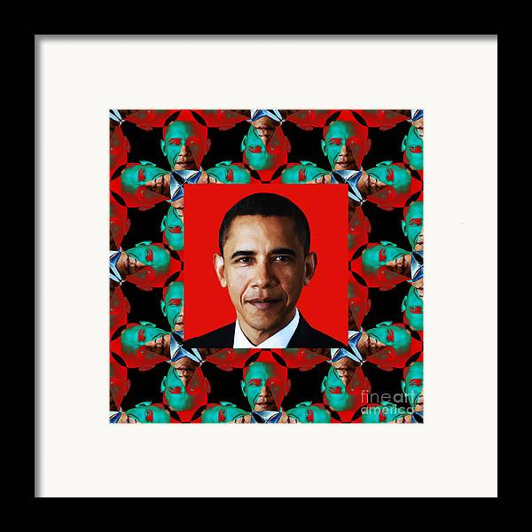 Wingsdomain Framed Print featuring the photograph Obama Abstract Window 20130202p0 by Wingsdomain Art and Photography