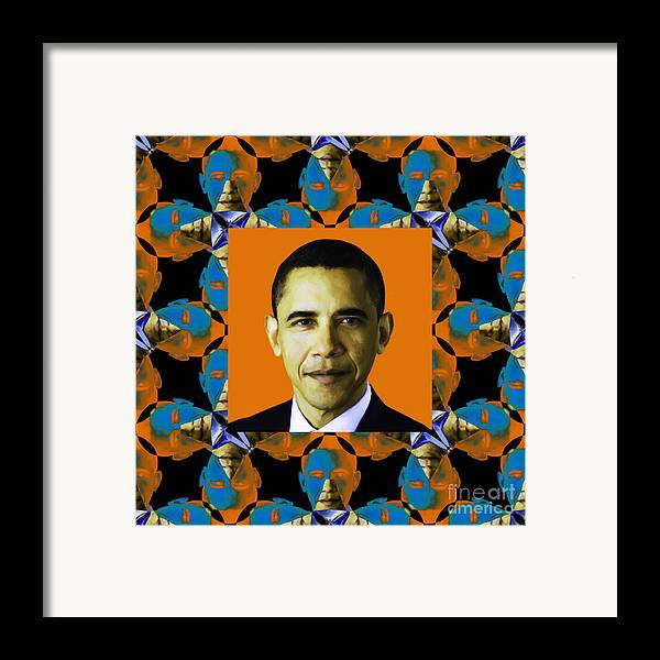 Politic Framed Print featuring the photograph Obama Abstract Window 20130202p28 by Wingsdomain Art and Photography