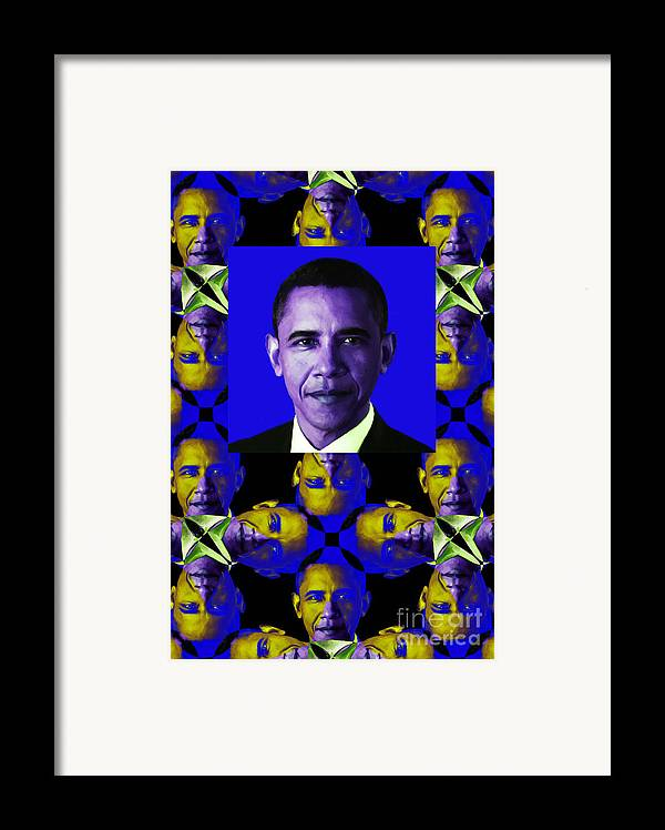 Politic Framed Print featuring the photograph Obama Abstract Window 20130202verticalm118 by Wingsdomain Art and Photography